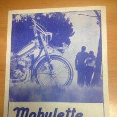 Coches y Motocicletas: FOLLETO PUBLICITARIO MOBYLETTE . Lote 152184062