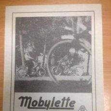 Coches y Motocicletas: FOLLETO PUBLICITARIO MOBYLETTE . Lote 152184214