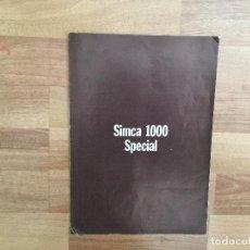 Coches y Motocicletas: CATALOGO COCHE SIMCA 1000 SPECIAL CHRYSLER . Lote 152347418