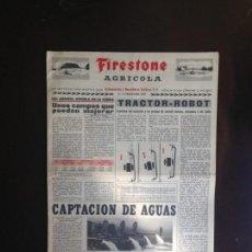 Coches y Motocicletas: FIRESTONE AGRÍCOLA - EDITADO POR AUTOMÓVILES Y RECAMBIOS DALMAU S.A - PRIMAVERA 1963. Lote 152428210