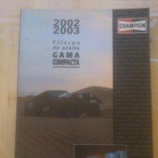 Coches y Motocicletas: CHAMPION FILTROS DE ACEITE GAMA COMPACTA. Lote 152494574