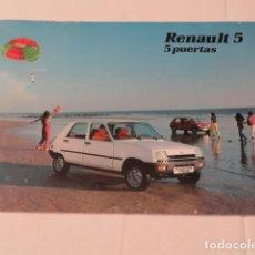 Coches y Motocicletas: CATÁLOGO PUBLICIDAD RENAULT 5 TL Y GTL. 5 PUERTAS.. Lote 152571186