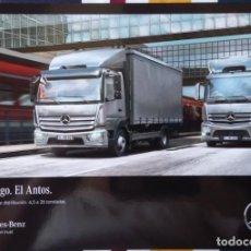Coches y Motocicletas: CATÁLOGO CAMIONES MERCEDES GAMAS ATEGO Y ANTOS. MAYO 2016. EN ESPAÑOL. Lote 152592634