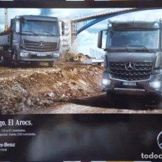 Coches y Motocicletas: CATÁLOGO CAMIONES MERCEDES BENZ GAMAS ATEGO Y AROCS. SEPTIEMBRE 2015. EN ESPAÑOL. Lote 152592746