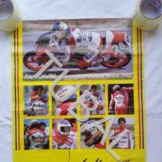 Coches y Motocicletas: TUBAL 68 CM CARTEL ALEX CRIVILLÈ RICARD POSTER 1988. Lote 153494322