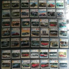 Coches y Motocicletas: LOTE PACK DE 60 FICHAS DE COCHES ANTIGUOS. Lote 153538618