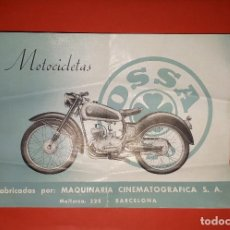 Coches y Motocicletas: MOTOCICLETAS OSSA 125 CATÁLOGO PUBLICITARIO MAQUINARIA CINEMATOGRÁFICA BARCELONA. Lote 153596350