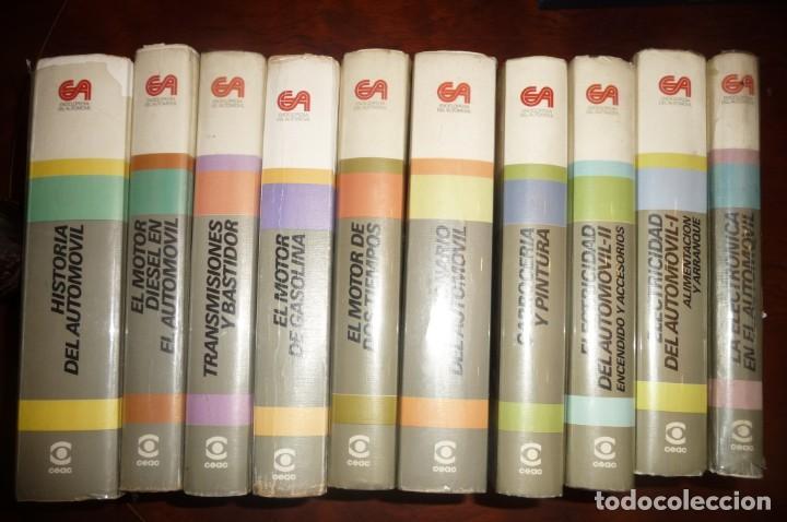 ENCICLOPEDIA CEAC DEL AUTOMOVIL, COMPLETA 10 VOLUMENES, 1990, BUENA CONSERVACION (Coches y Motocicletas Antiguas y Clásicas - Catálogos, Publicidad y Libros de mecánica)