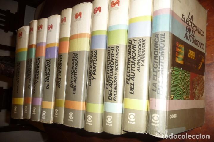 Coches y Motocicletas: ENCICLOPEDIA CEAC DEL AUTOMOVIL, COMPLETA 10 VOLUMENES, 1990, BUENA CONSERVACION - Foto 2 - 154349078