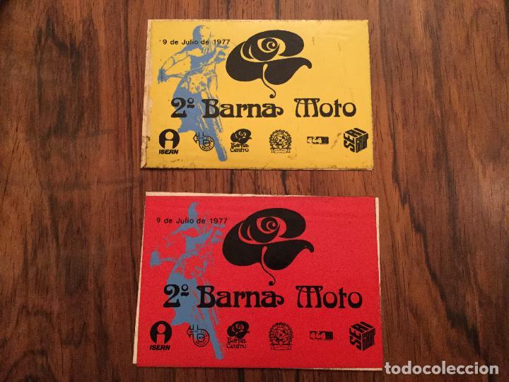 PEGATINAS 2A BARNA MOTO 1977 - MOTOCICLISMO. VESPA CLUB ESPAÑA, MOTO CLUB MOLLET, ISERN SERI (Coches y Motocicletas Antiguas y Clásicas - Catálogos, Publicidad y Libros de mecánica)