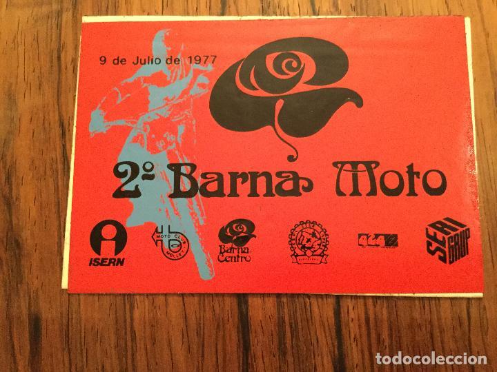 Coches y Motocicletas: PEGATINAS 2a Barna MOTO 1977 - Motociclismo. VESPA CLUB ESPAÑA, MOTO CLUB MOLLET, ISERN SERI - Foto 2 - 160933821