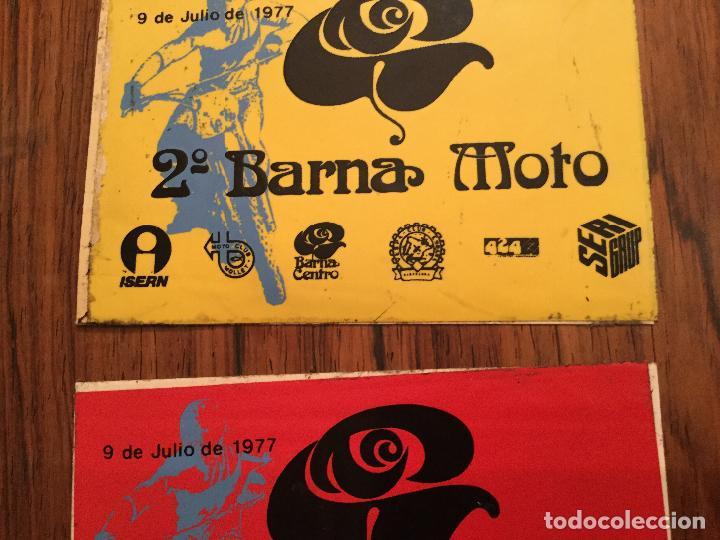 Coches y Motocicletas: PEGATINAS 2a Barna MOTO 1977 - Motociclismo. VESPA CLUB ESPAÑA, MOTO CLUB MOLLET, ISERN SERI - Foto 3 - 160933821
