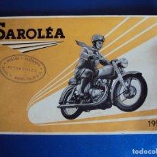 Coches y Motocicletas - (CAT-190300) CATALOGO MOTOS SAROLEA - AÑO 1954 - 154626686