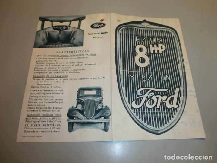 CATALOGO DE TIENDA FORD 8 HP FORD MOTOR IBERICA BARCELONA ORIGINAL AÑOS 20 O 30 (Coches y Motocicletas Antiguas y Clásicas - Catálogos, Publicidad y Libros de mecánica)