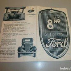 Coches y Motocicletas: CATALOGO DE TIENDA FORD 8 HP FORD MOTOR IBERICA BARCELONA ORIGINAL AÑOS 20 O 30. Lote 196144731
