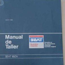 Coches y Motocicletas: MANUAL TALLER SEAT IBIZA - 1986 . Lote 154928230