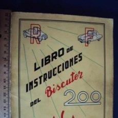 Coches y Motocicletas: (CAT-190356)LIBRO DE INSTRUCCIONES DEL BISCUTER 200. Lote 154934130