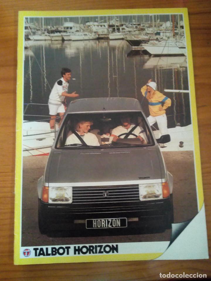 -TALBOT HORIZON CATALOGO PUBLICITARIO -20 PAG-ORIGINAL -CASTELLANO 1983 (Coches y Motocicletas Antiguas y Clásicas - Catálogos, Publicidad y Libros de mecánica)