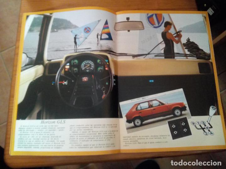 Coches y Motocicletas: -TALBOT HORIZON CATALOGO PUBLICITARIO -20 PAG-ORIGINAL -CASTELLANO 1983 - Foto 3 - 154970262