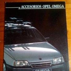 Coches y Motocicletas: OPEL OMEGA ACCESORIOS- CATALOGO PUBLICITARIO -16 PAG-ORIGINAL -CASTELLANO 1986. Lote 154974638