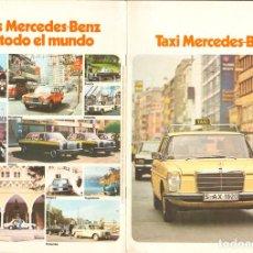 Coches y Motocicletas: MERCEDES-BENZ TAXIS EN TODO EL MUNDO, CATÁLOGO EN ESPAÑOL, 1974, 18 PÁGINAS, MUY BUEN ESTADO. Lote 155009334