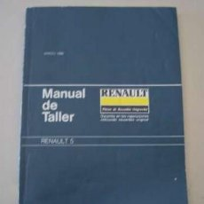 Coches y Motocicletas: MANUAL TALLER RENAULT 5 - 1986. Lote 155129518