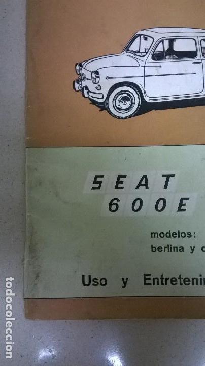 Coches y Motocicletas: Uso y entretenimiento.Seat 600.Libro.Manual - Foto 3 - 155310126