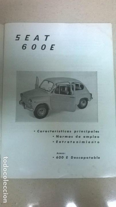 Coches y Motocicletas: Uso y entretenimiento.Seat 600.Libro.Manual - Foto 4 - 155310126