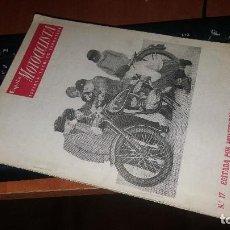 Coches y Motocicletas: ESPAÑA MOTOCICLISTA N° 17 DE 1952. Lote 155562378