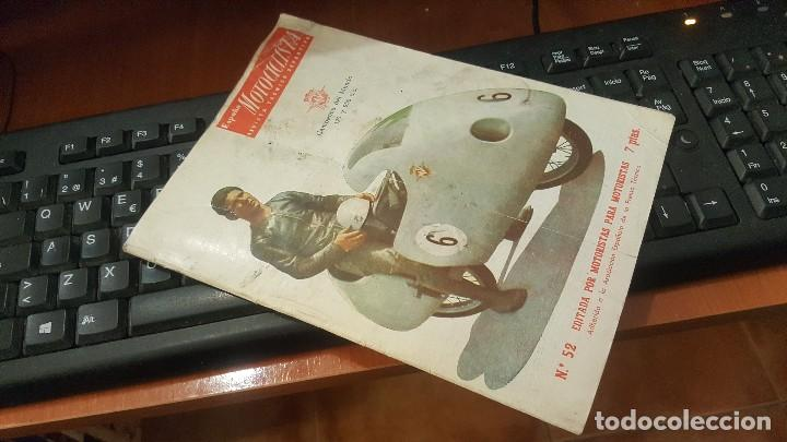 ESPAÑA MOTOCICLISTA N° 52 DE 1956 (Coches y Motocicletas Antiguas y Clásicas - Catálogos, Publicidad y Libros de mecánica)