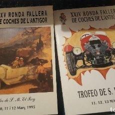 Coches y Motocicletas: RONDA FALLERA COCHES DE L'ANTIGOR, XIX-XXIV-XXV-XXVII DE 1989-94-95-97. Lote 155652362