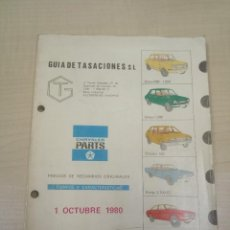 Coches y Motocicletas: MANUAL DE PIEZAS DE RECAMBIO DEL SIMCA 1000, SIMCA 1200, CHRYSLER 150, DODGE 3700 GT CHRYSLER 180. Lote 155697822