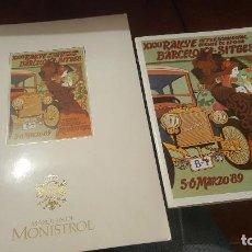 Coches y Motocicletas: XXXI RALLYE COCHES DE EPOCA BARCELONA SITGES 1989, TROFEO MARQUES DE MONISTROL, FOLLETO Y CARPETA. Lote 155766134