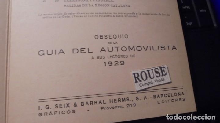 Coches y Motocicletas: FOLLETO OBSEQUIO DE LA GUIA DEL AUTOMOVILISTA A SUS LECTORES 1929 - TRIPTICO 6 PAG. 20,5X15 CM. - Foto 2 - 155841062