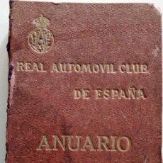 Coches y Motocicletas: REAL AUTOMÓVIL CLUB DE ESPAÑA, ANUARIO 1924 - INCLUYE LOS MARCAPÁGINAS CON LA PUBLICIDAD. Lote 155842138
