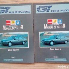 Coches y Motocicletas: GUIA DE TASACIONES - OPEL VECTRA - NOVIEMBRE 1990 - 2 TOMOS - LOTE 1. Lote 155954714
