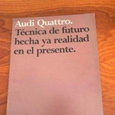 Coches y Motocicletas: AUDI QUATTRO QUATTRO CATALOGO PUBLICITARIO 1983. Lote 155986114