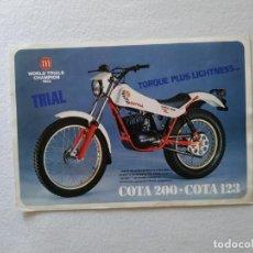 Coches y Motocicletas: LAMINA ORIGINAL MONTESA COTA 200 248 123. Lote 156435426