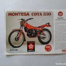 Coches y Motocicletas: LAMINA ORIGINAL MONTESA COTA 330 242. Lote 156435866