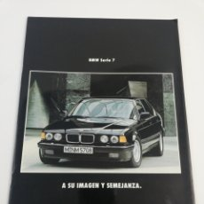 Coches y Motocicletas: CATALOGO PUBLICITARIO BMW SERIE 7 730I 735I 750I A SU IMAGEN Y SEMEJANZA COCHE COCHES EN CASTELLANO. Lote 156516654