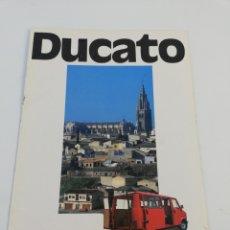 Coches y Motocicletas: CATALOGO PUBLICITARIO FIAT DUCATO FURGONETA AUTOCARRO FURGON AUTOMOVIL EN CASTELLANO 1983. Lote 156521022