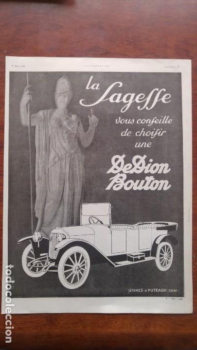 Coches y Motocicletas: DION BOUTON AUTOMOVILES ANTIGUOS VOITURE 7 HOJAS PUBLICIDAD AÑOS 1923-1924-1925-1926 BICYCLETTES - Foto 3 - 156525710
