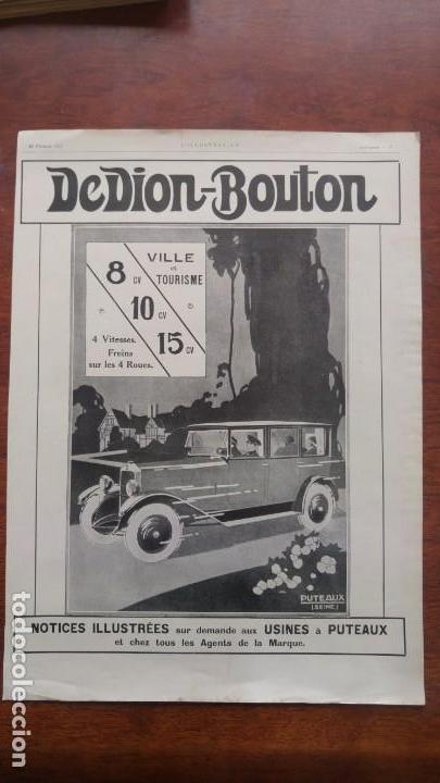Coches y Motocicletas: DION BOUTON AUTOMOVILES ANTIGUOS VOITURE 7 HOJAS PUBLICIDAD AÑOS 1923-1924-1925-1926 BICYCLETTES - Foto 6 - 156525710