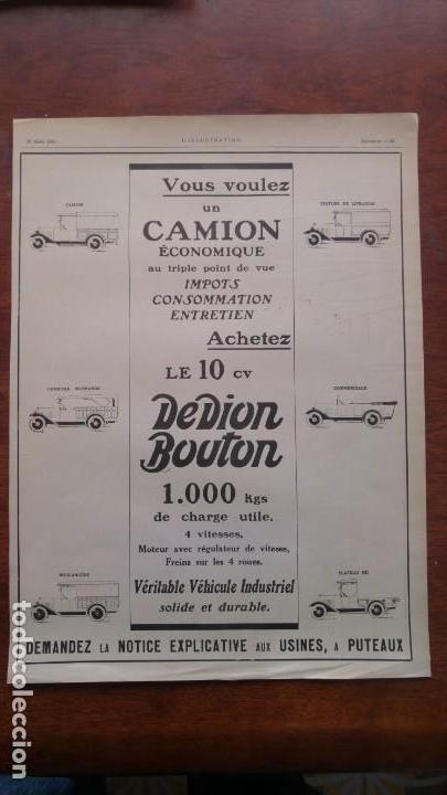 Coches y Motocicletas: DION BOUTON AUTOMOVILES ANTIGUOS VOITURE 7 HOJAS PUBLICIDAD AÑOS 1923-1924-1925-1926 BICYCLETTES - Foto 7 - 156525710