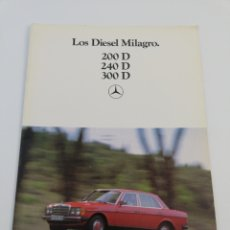 Coches y Motocicletas: CATALOGO PUBLICITARIO MERCEDES BENZ 200 D 240 D 300 D DIESEL COCHE AUTOMOVIL EN CASTELLANO 1980. Lote 156542362