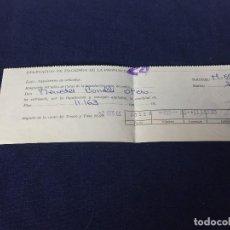 Coches y Motocicletas: DOCUMENTO DELEGACION PROVINCIA MADRID MATRICULACION LIQUIDACION IMPUESTO LUJO SEAT 600 D DIC 1966. Lote 156771282