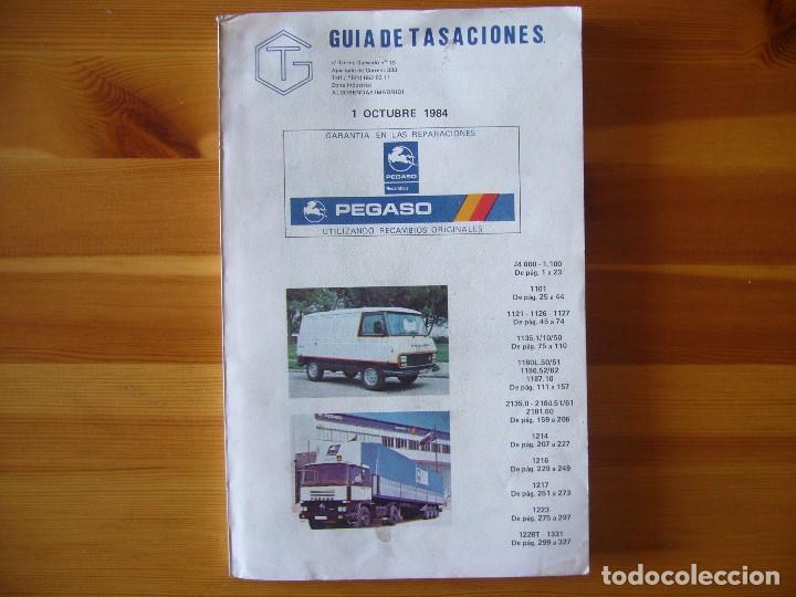 GUIA DE TASACIONES 1964 PEGASO SAVA J-4 1.100 Y PEGASO J-4 800 - 1.100 (Coches y Motocicletas Antiguas y Clásicas - Catálogos, Publicidad y Libros de mecánica)