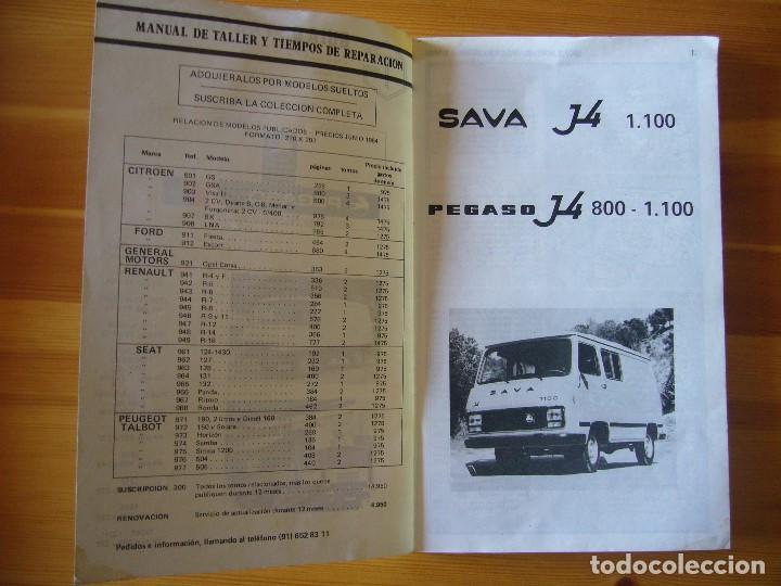 Coches y Motocicletas: GUIA de TASACIONES 1964 PEGASO SAVA J-4 1.100 Y PEGASO J-4 800 - 1.100 - Foto 4 - 156954802