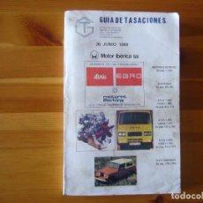 Coches y Motocicletas: GUIA DE TASACIONES 1984 MOTOR IBÉRICA S.A SIATA 50 S , AVIA 1000 , JEEP COMANDO. Lote 156955246