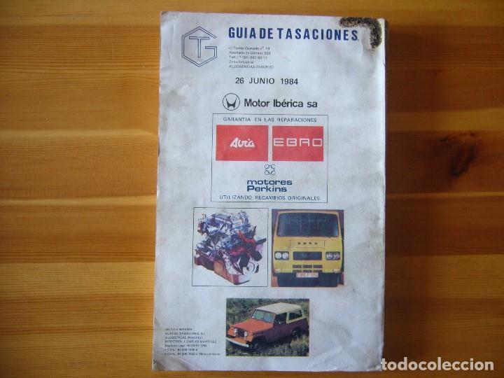 Autos und Motorräder: GUIA de TASACIONES 1984 MOTOR IBÉRICA S.A SIATA 50 S , AVIA 1000 , JEEP COMANDO - Foto 2 - 156955246